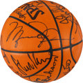 Basketball Collectibles:Balls, 1996-97 Chicago Bulls Team Signed Team Issued Basketball -Championship Season!...