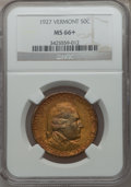 Commemorative Silver, 1927 50C Vermont MS66+ NGC....