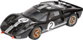 Paintings, SCALE MODEL MCLAREN LE MANS 1966 FORD GT40 MARK II. Length 13-1/2 inches (34.3 cm). Detailed 1.12 scale model of the British...