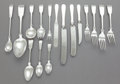 Silver Flatware, American:Other , A TWO HUNDRED AND FOUR PIECE PORTER BLANCHARD FIDDLE PATTERNSILVER FLATWARE SERVICE. Porter Blanchard, Calabasa... (Total: 192)
