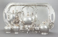 Silver Holloware, American:Tea Sets, AN EIGHT PIECE PORTER BLANCHARD SILVER TEA AND COFFEE SERVICE.Porter Blanchard, Calabasas, California, circa 1930. Marks: ...(Total: 8 Items)