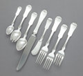 Silver Flatware, American:Other , A FORTY-EIGHT PIECE LEWIS WISE FOR PORTER BLANCHARDGRANDMA/MILFORD PATTERN SILVER ASSEMBLED FLATWARE SERVICEFOR ... (Total: 48 Items)
