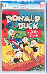 Four Color #108 Donald Duck (Dell, 1946) CGC VF+ 8.5 Cream to off-white pages