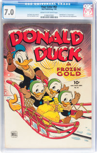 Four Color #62 Donald Duck (Dell, 1945) CGC FN/VF 7.0 Cream to off-white pages