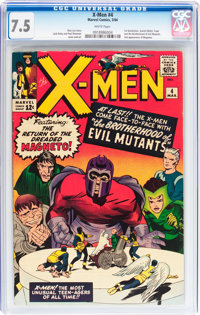 X-Men #4 (Marvel, 1964) CGC VF- 7.5 White pages
