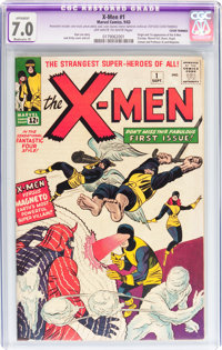 X-Men #1 (Marvel, 1963) CGC Apparent FN/VF 7.0 Moderate (P) Off-white to white pages