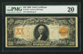 Large Size:Gold Certificates, Fr. 1182 $20 1906 Gold Certificate PMG Very Fine 20.. ...