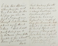 "Autographs:Authors, Robert Bulwer-Lytton (""Owen Meredith,"" 1831-1891, English poet and statesman). Autograph Letter Signed. March 30, 1884. Stat..."