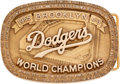 Baseball Collectibles:Others, 1955 Brooklyn Dodgers Belt Buckle by Josten's....