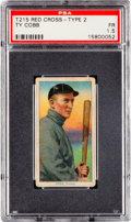 Baseball Cards:Singles (Pre-1930), 1912-13 T215 Red Cross - Type 2 Ty Cobb PSA Fair 1.5 - The Only PSA Graded Example! ...