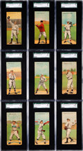 Baseball Cards:Sets, 1911 T201 Mecca Double Folders SGC Graded Complete Set (50). ...