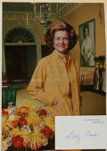 Autographs:Celebrities, Betty Ford (1918-2011, former First Lady of the United States).Autograph Card Signed. Ca. 1976. Measures 4 x 2.5 inches. Fi...
