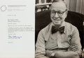 Autographs:Statesmen, Arthur Schlesinger, Jr. (1917-2007, historian). Typed LetterSigned. October 14, 1976. Also included is a signed copy of Sch...
