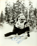 Autographs:Celebrities, Hank Kashiwa (Olympic alpine skier, 1972). Photograph Signed. April1976. Black and white. Measures 8 x 10 inches. Edges cur...