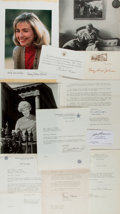 Autographs:U.S. Presidents, [Richard Nixon, Ladybird Johnson]. Group of Several NotableSignatures from Politicians, ca. 1970s. Of note are two autograp...