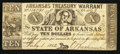 Obsoletes By State:Arkansas, (Little Rock, AR) - Arkansas Treasury Warrant $10 July 1, 1862 Cr. 55. ...