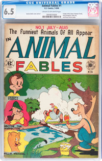 Animal Fables #1 (EC, 1946) CGC FN+ 6.5 Cream to off-white pages