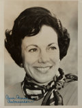 Autographs:Statesmen, Anne Armstrong (1927-2008, American politician). Photograph Signed.Ca. 1976. Black and white. Measures 8 x 10 inches. Some ...