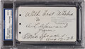 Baseball Collectibles:Others, 1923 Tris Speaker Signed Index Card, PSA/DNA Mint 9. ...