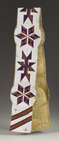 American Indian Art:Beadwork, A BLACKFEET BEADED CANVAS BLANKET STRIP. . c. 1890. ...