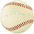 Autographs:Baseballs, 1950's President Dwight D. Eisenhower Single Signed Baseball. A fine sportsman in his younger days, Ike's own athletic care...