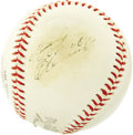 Autographs:Baseballs, 1960's Roberto Clemente Signed Baseball. After setting a WorldRecord price of $13,145 for Clemente singles in May 2005, we...
