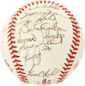 "Autographs:Baseballs, 1998 New York Yankees Team Signed Baseball. Direct from thepersonal collection of the man they call ""Boomer"" (that's perfe..."