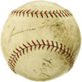 Autographs:Baseballs, Late 1920's Babe Ruth & Jimmie Foxx Signed Baseball. The first two members of the 500 Home Run Club make a fine pair upon t...