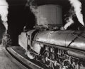 Photographs:20th Century, O. WINSTON LINK (American, 1914-2001). NW 609. Watering the 104,Bristol Roundhouse, Bristol, Virginia, 1955. Gelatin si...