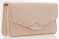 Luxury Accessories:Bags, Judith Leiber Beige Fabric Clutch Bag with Shoulder Strap. ...