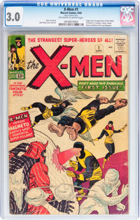 X-Men #1 (Marvel, 1963) CGC GD/VG 3.0 Off-white to white pages