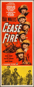 "Movie Posters:War, Cease Fire! (Paramount, 1953). Insert (14"" X 36"") 3-D Style. War....."
