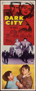 "Movie Posters:Crime, Dark City (Paramount, 1950). Insert (14"" X 36""). Crime.. ..."