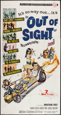 "Movie Posters:Rock and Roll, Out of Sight (Universal, 1966). Three Sheet (41"" X 78""). Rock andRoll.. ..."