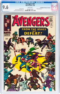 The Avengers #24 Don/Maggie Thompson Collection pedigree (Marvel, 1966) CGC NM+ 9.6 White pages