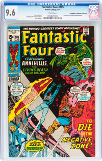 Fantastic Four #109 Don/Maggie Thompson Collection pedigree (Marvel, 1971) CGC NM+ 9.6 White pages