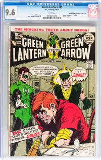 Green Lantern #85 Don/Maggie Thompson Collection pedigree (DC, 1971) CGC NM+ 9.6 White pages