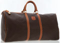 Luxury Accessories:Bags, Celine Brown Monogram Canvas Travel Bag with Luggage Tag & Key....