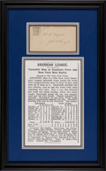 Autographs:Post Cards, 1903 John Henry Ganzel Signed Postcard, First New York Yankees HomeRun....