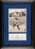 Baseball Collectibles:Photos, 1934 Babe Ruth 700th Home Run Type I Original News ServicePhotograph....