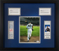 Baseball Collectibles:Tickets, 1996-2011 Mariano Rivera First and Record 602nd Career Saves FullTicket Display with Signed Photograph....