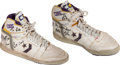 Basketball Collectibles:Uniforms, 1988 Magic Johnson NBA Finals Game Seven Worn Sneakers. ...