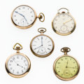 Timepieces:Pocket (post 1900), A Lot Of Five Elgin Pocket Watches For Parts Or Repair. ... (Total:5 Items)