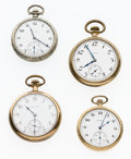 Timepieces:Pocket (post 1900), Lot Of Four Elgin Pocket Watches For Parts Or Repair. ... (Total: 4Items)