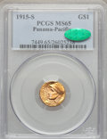 Commemorative Gold, 1915-S G$1 Panama-Pacific Gold Dollar MS65 PCGS. CAC....