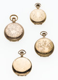 Timepieces:Pocket (post 1900), Four Waltham Hunter's Case Pocket Watches. ... (Total: 4 Items)