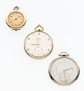 Timepieces:Pocket (post 1900), Two Elgin Pocket Watches & One Pendant Watch. ... (Total: 3Items)