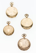 Timepieces:Pocket (post 1900), A Lot Of Four Elgin Hunter's Case Pocket Watches. ... (Total: 4Items)