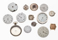 Timepieces:Other , Eight Pocket Watch & Five Wristwatch Movements & One Pocket Watch Case. ... (Total: 14 Items)