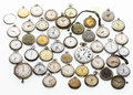 Timepieces:Other , A Lot Of Fifty Pocket Watches, Dollar Watches & Timers. ...(Total: 50 Items)